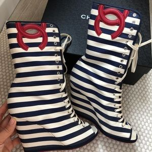 Chanel booties open toe 39